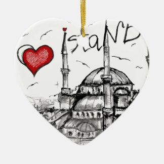 I love Istanbul Christmas Ornament