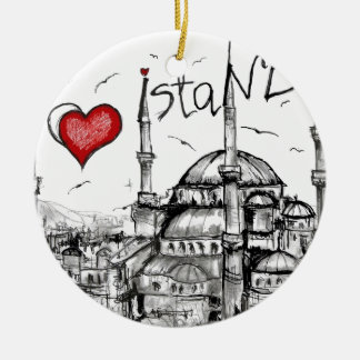 I love Istanbul Christmas Ornament