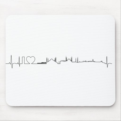 I love Istanbul (ecg style) souvenir Mouse Pads