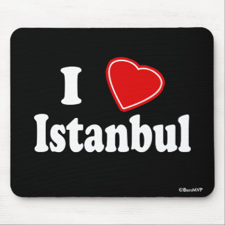 I Love Istanbul Mouse Pad