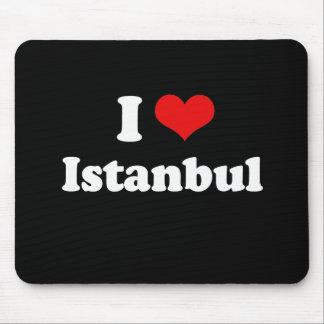 I Love Istanbul Tshirt White Tshirt Mouse Pad