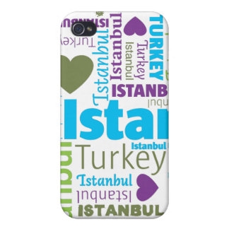 i love istanbul typography iphone case iPhone 4 covers