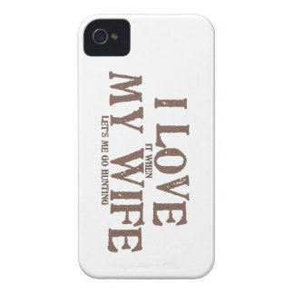 I LOVE (it when) MY WIFE (let's me go hunting) iPhone 4 Case-Mate Cases