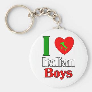I  Love Italian Boys Basic Round Button Key Ring