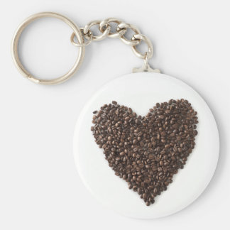 I love italian coffee! basic round button key ring