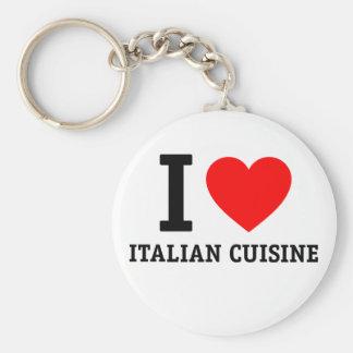 I Love Italian Cuisine Keychain