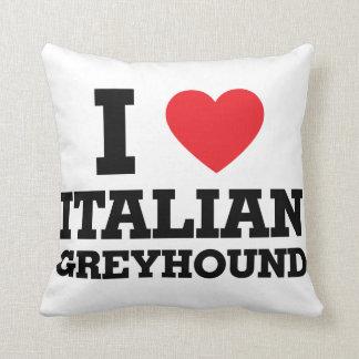 I love Italian Greyhound Cushion
