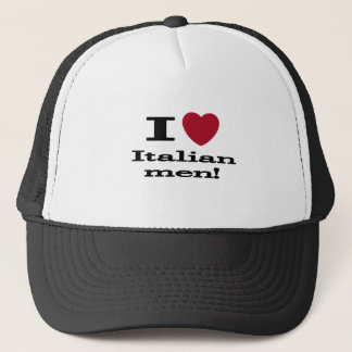 I Love Italian Men Trucker Hat