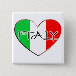 I LOVE ITALY 15 CM SQUARE BADGE