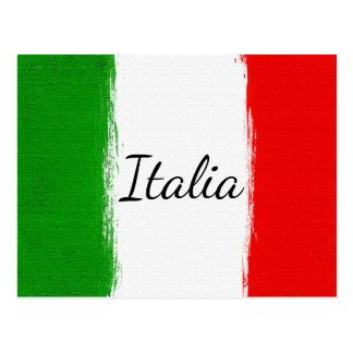 I love Italy.Flag of Italy. Postcard