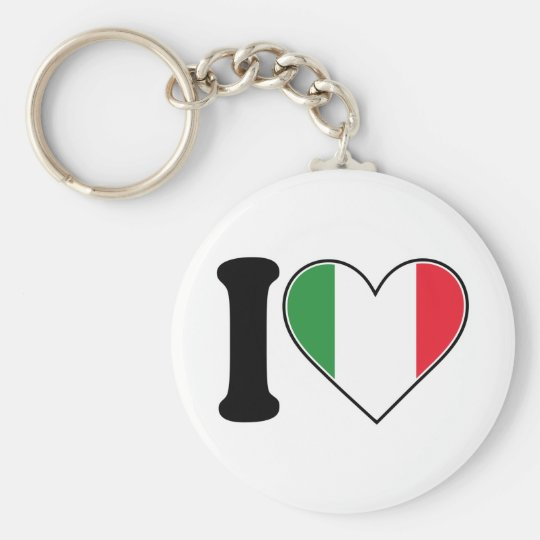 I Love Italy Key Ring