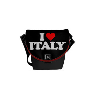 I LOVE ITALY MESSENGER BAGS