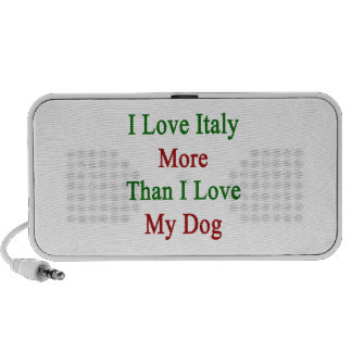 I Love Italy More Than I Love My Dog Laptop Speakers