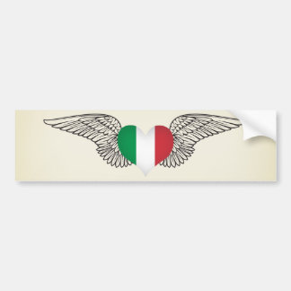 I Love Italy -wings Bumper Sticker