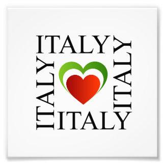 I love italy with italian flag colors photo art