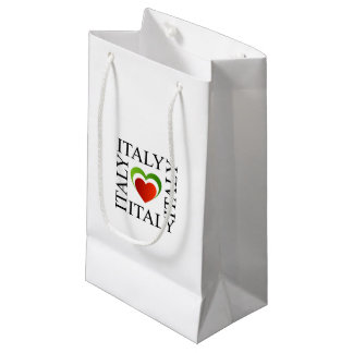 I love italy with italian flag colors small gift bag