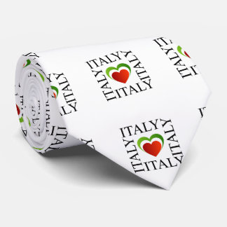 I love italy with italian flag colors tie
