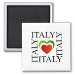 I love italy with italian flag colours square magnet