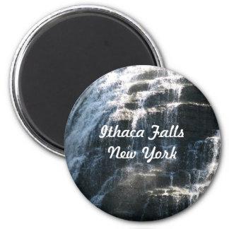 I love Ithaca Falls, New York! 6 Cm Round Magnet