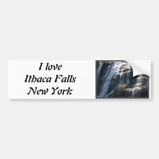 I love Ithaca Falls, New York! Bumper Sticker