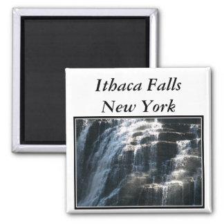 I love Ithaca Falls, New York! Square Magnet
