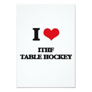 """I Love Ithf Table Hockey 3.5"""" X 5"""" Invitation Card"""