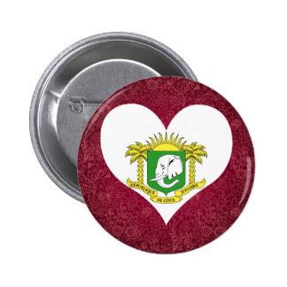 I Love Ivory+Coast 6 Cm Round Badge