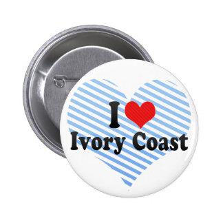 I Love Ivory Coast 6 Cm Round Badge