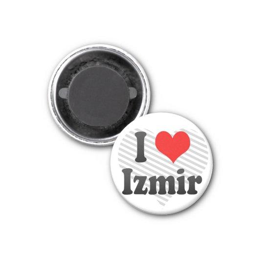 I Love Izmir, Turkey 3 Cm Round Magnet