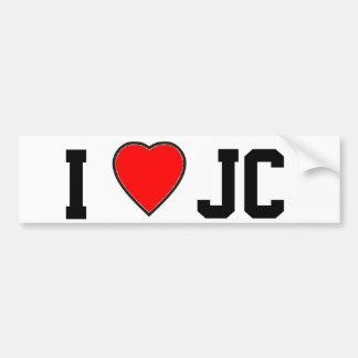 I Love J C Bumper Sticker