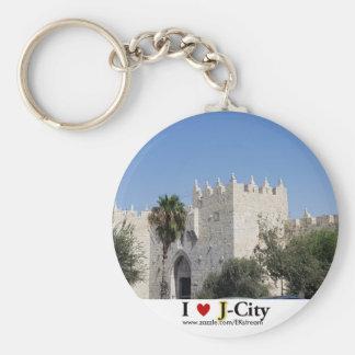 I LOVE J CITY - Damscus gate keychain