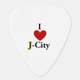 I LOVE J  (jerusalem) CITY guitar pick