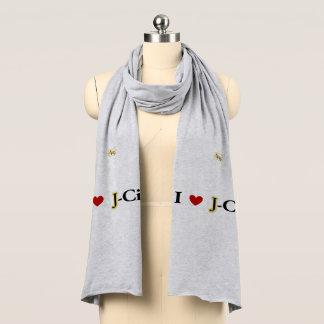 I LOVE J  (jerusalem) CITY scarf