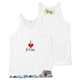 I LOVE J (jerusalem) CITY tank-top All-Over Print Tank Top