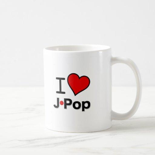 I Love J-Pop Classic White Coffee Mug