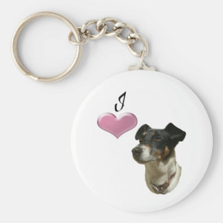 I love Jack Russell dogs Basic Round Button Key Ring