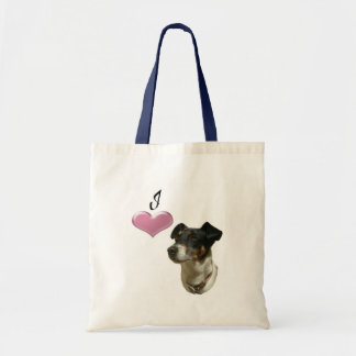 I love Jack Russell dogs Budget Tote Bag