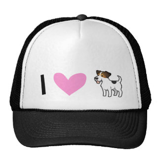 I Love Jack Russell Terriers Cap