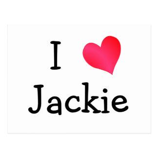 I Love Jackie Postcard