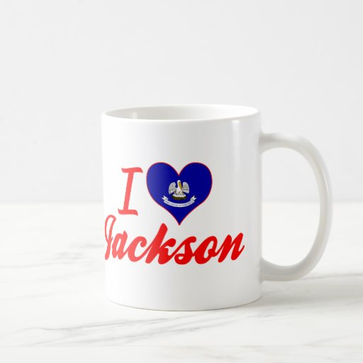 I Love Jackson, Louisiana Mugs