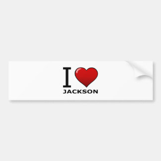 I LOVE JACKSON, MS - MISSISSIPPI BUMPER STICKER