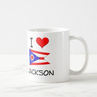 I Love Jackson Ohio Basic White Mug