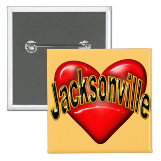 I Love Jacksonville 15 Cm Square Badge