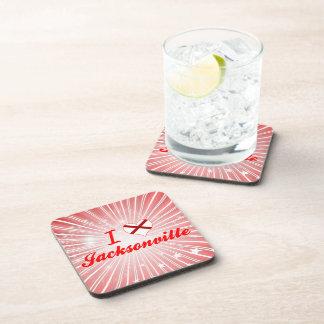 I Love Jacksonville, Alabama Beverage Coasters