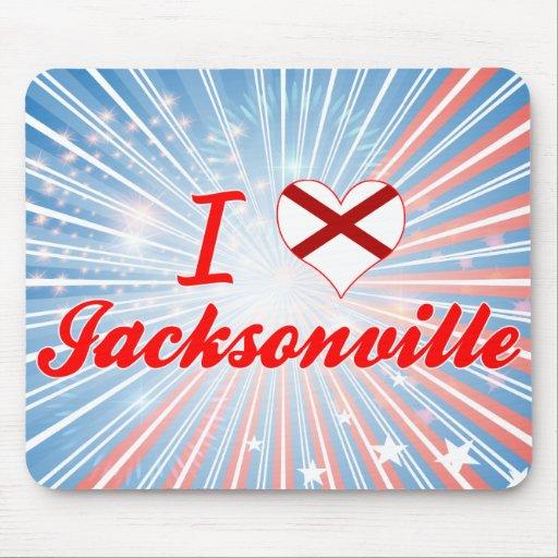 I Love Jacksonville, Alabama Mouse Pad