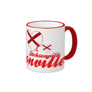 I Love Jacksonville, Alabama Mugs