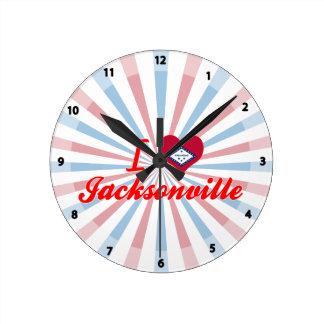 I Love Jacksonville, Arkansas Round Wallclock