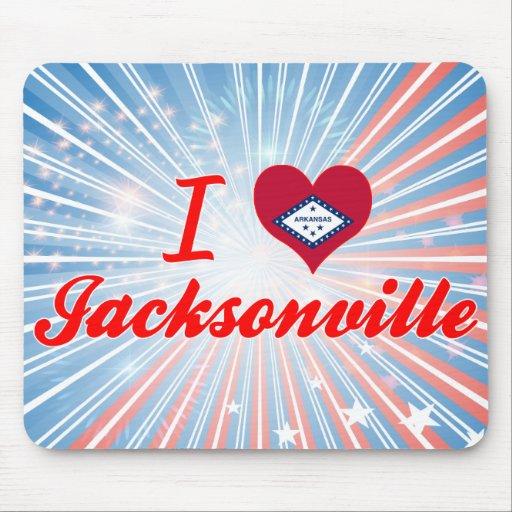I Love Jacksonville, Arkansas Mousepads