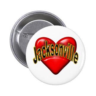 I Love Jacksonville Pinback Buttons