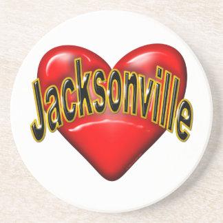 I Love Jacksonville Drink Coaster